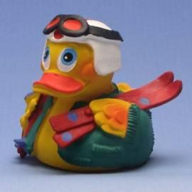Sci-Duck con casco bianco - Bild vergrößern