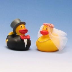 Paperella di gomma s sposa e sposo 3